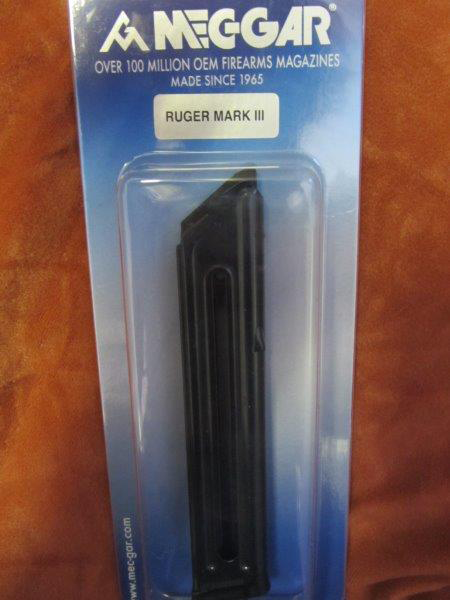 Ruger Mk2, Mk2 22/45, Mk3 and Mk3 22/45 Mec-Gar blued magazine