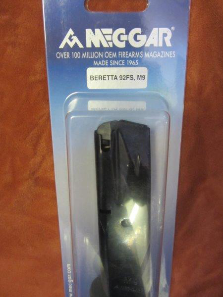 Beretta 92FS 9mm 10 round magazine blued MecGar