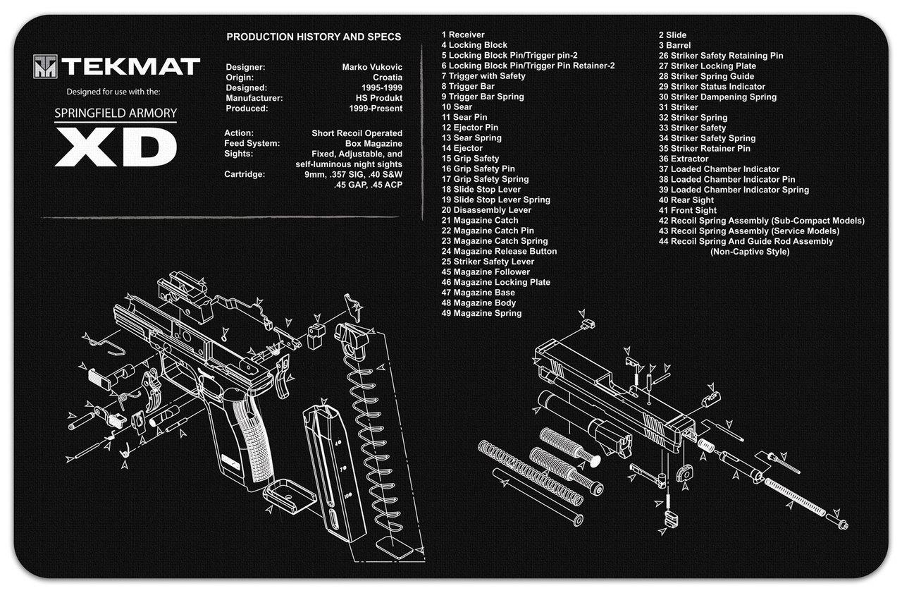Springfield XD Handgun Mat Tekmat *DNR*