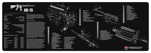 AR15 B&W Rifle Mat