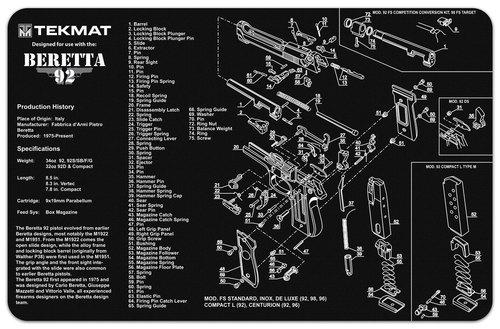 Beretta 92 Handgun TekMat