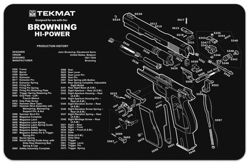 Browning High Power Handgun mat