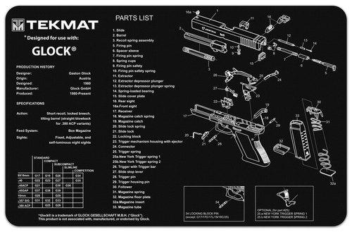 Glock Gen 1-3 B&W Tekmat