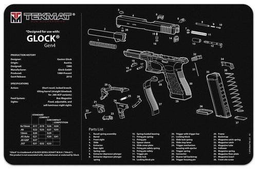 Glock Gen 4 Handgun Mat Tekmat *DNR*