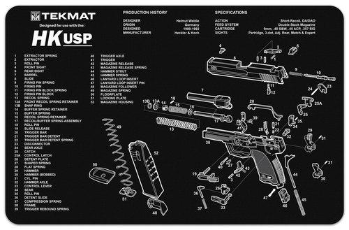 HK USP Handgun Mat Tekmat *DNR*
