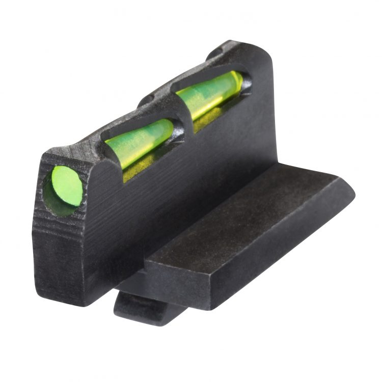 Ruger GP100 Revolver HiViz sight - spring plunger retained front sight & adjustable rear sight models GPLW01
