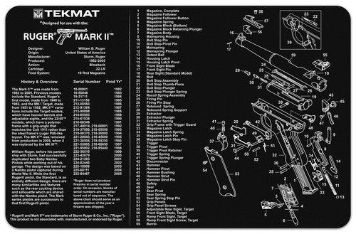 Ruger Mk 2 HandGun Mat Tekmat *DNR*