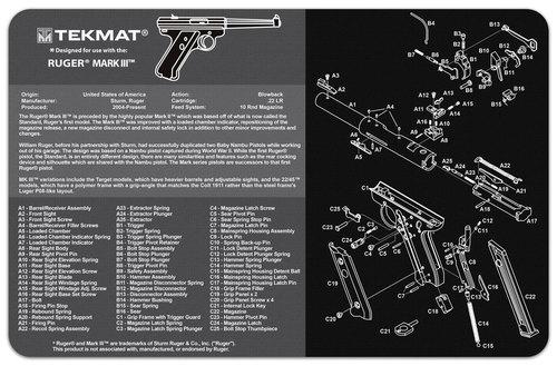 Ruger Mk 3 Handgun Mat Tekmat *DNR*