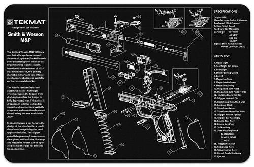 S&W M&P Black&White Handgun Mat