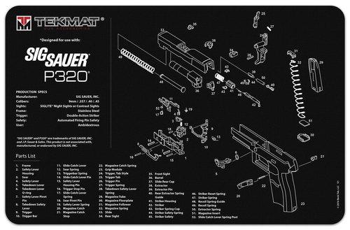 Sig Sauer P320 Handgun Mat