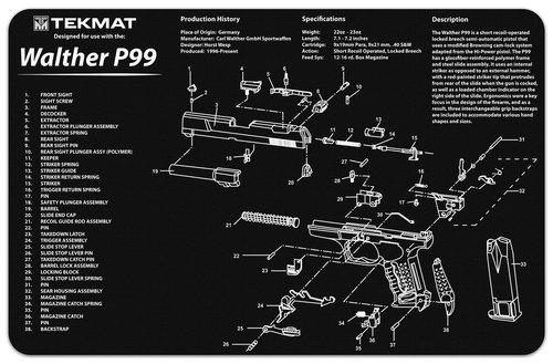 Walther P99 Handgun Mat Tekmat *DNR*