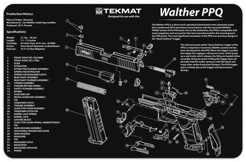 Walther PPQ Handgun Mat