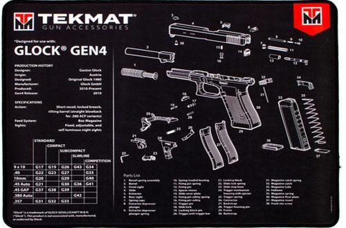 Glock 4 Ultra Handgun Mat Tekmat *DNR*