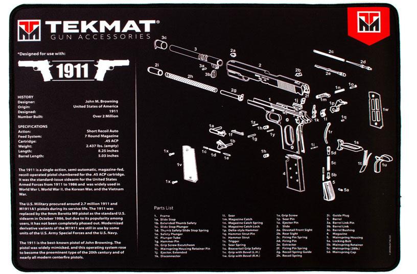 1911 Ultra Handgun Mat