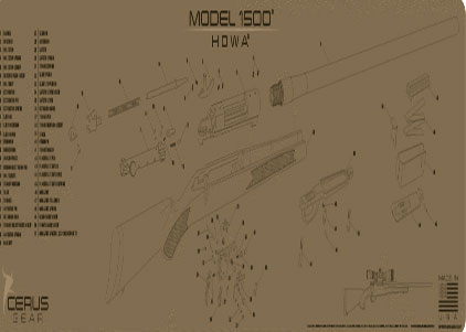 Howa 1500 schematic rifle mat