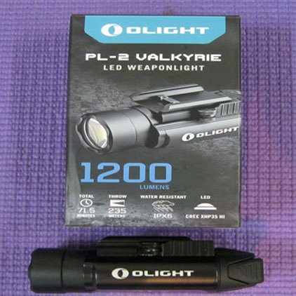 Olight PL-2 Valkyrie LED Weaponlight 1200 lumens, 235 meter beam