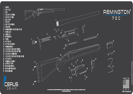 Remington 700 Rifle Mega ProMat Grey
