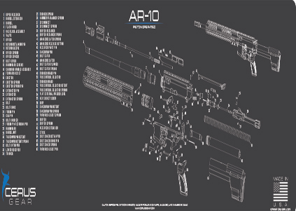 AR10 Schematic Rifle ProMat Grey