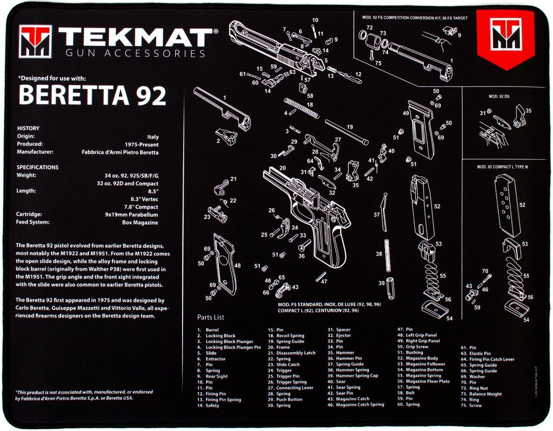 Beretta 92 Ultra mat Tekmat