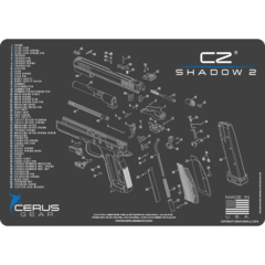 CZ shadow 2 schematic handgun mat