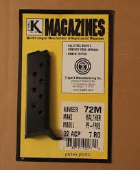 Walther PP-PPK/S 32 ACP 7 round magazine