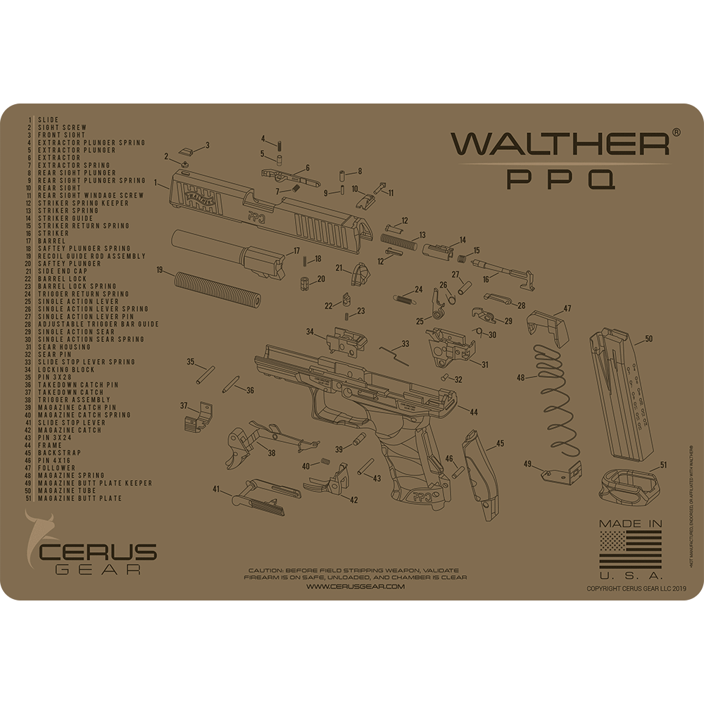 Walther PPQ Schematic Promat Tan