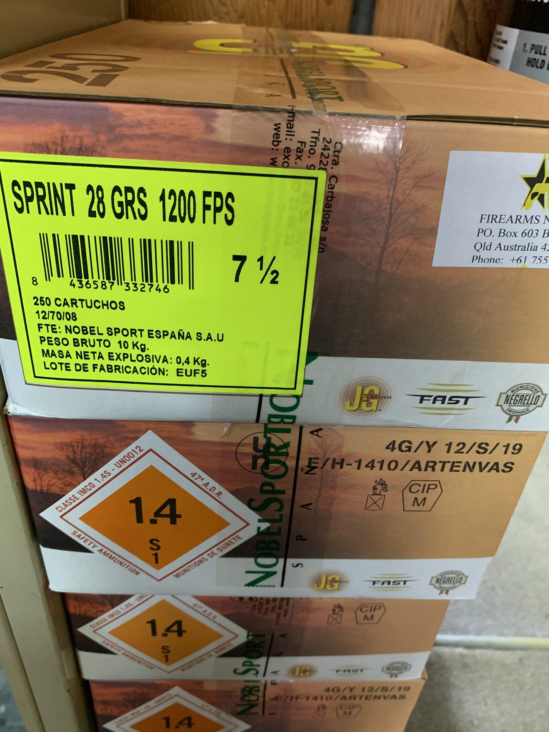 Sprint 12g 7 1/2 28 grain shotshells carton of 250 pick up