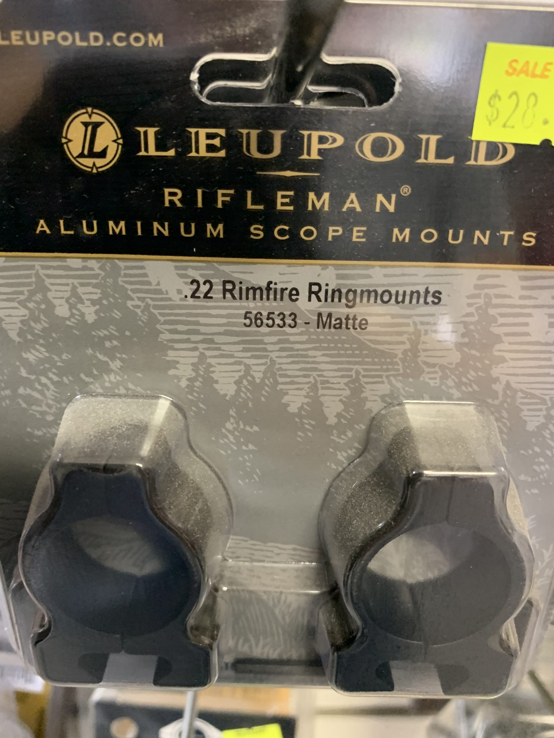 Rifleman 22 Rimfire Aluminium Scope mounts matte Leupold