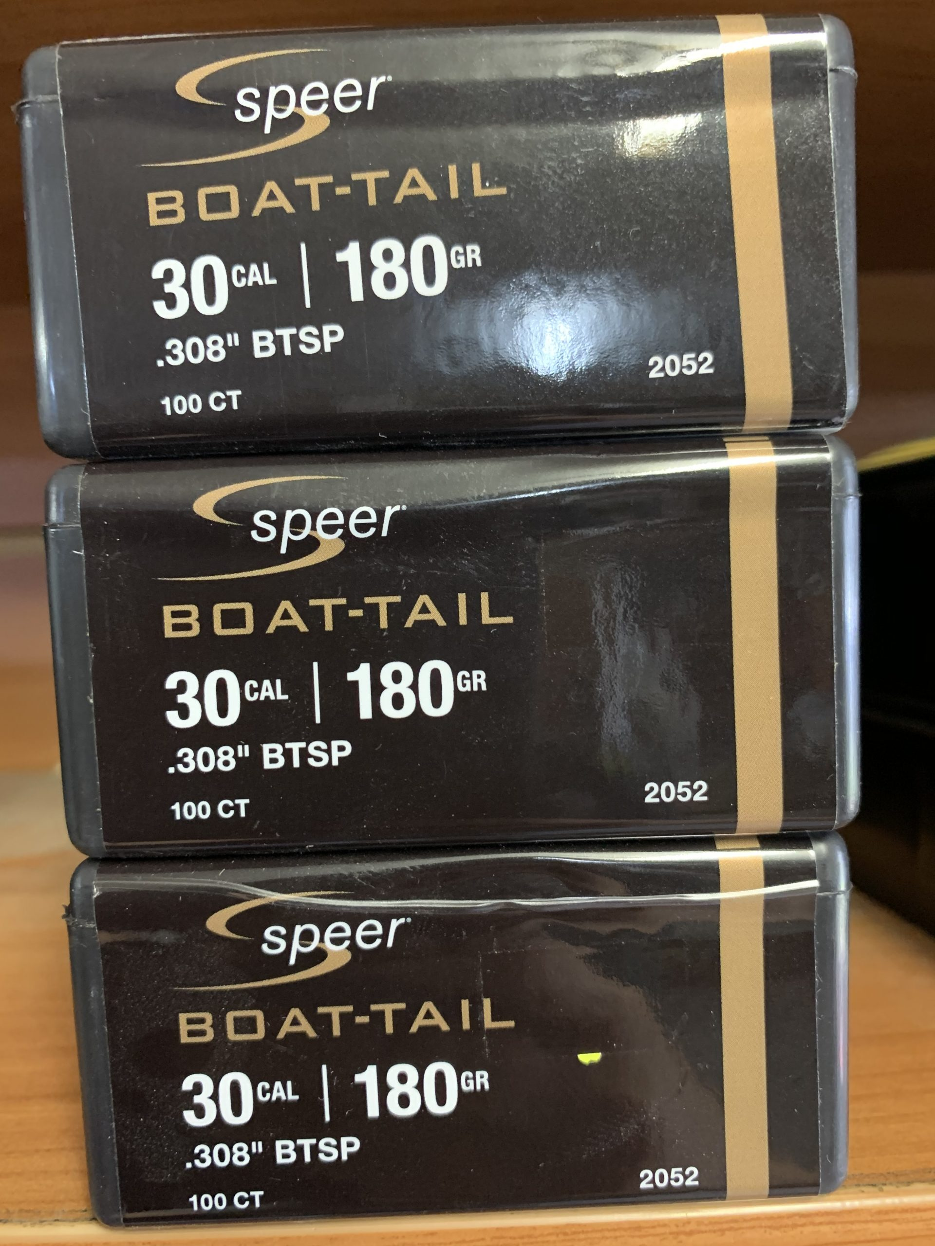 Speer Boat Tail 30 cal/.308 BTSP 180gr projectiles 100 pack