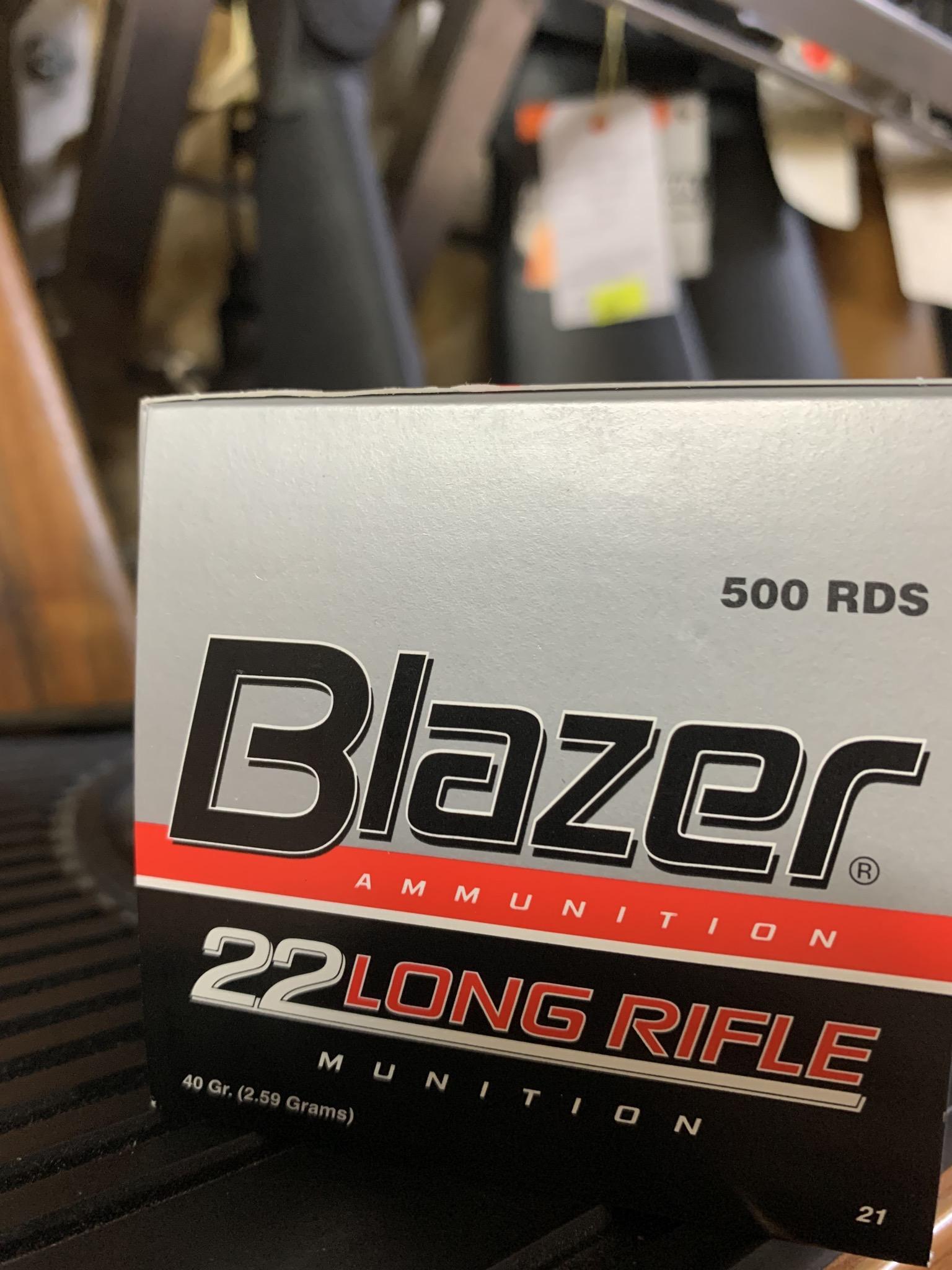 Blazer 22 LR bulk pack ammunition (500 rounds)